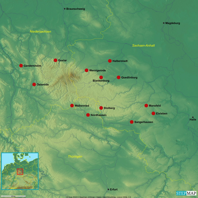 Zentren der Skulpturenproduktion im Harzgebiet, ca. 1450-1650